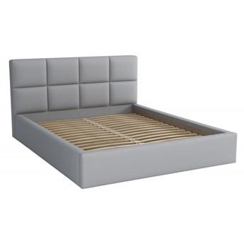 Łóżko Tapicerowane Alaska 160x200 Szary Tkanina Cayene
