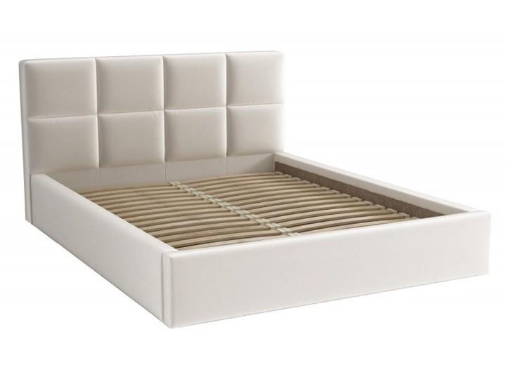 Łóżko Tapicerowane Alaska 160x200 Kremowy Tkanina Trinity