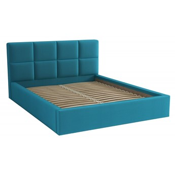Łóżko Tapicerowane Alaska 160x200 Turkusowy Tkanina Trinity