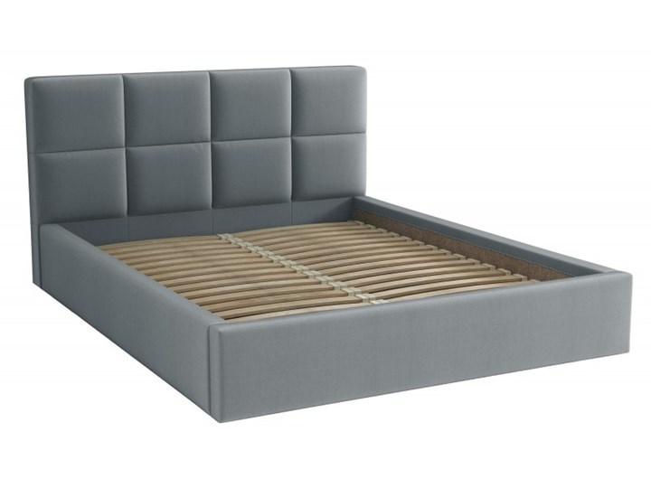 Łóżko Tapicerowane Alaska 160x200 Szary Tkanina Trinity