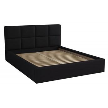 Łóżko Tapicerowane Alaska 160x200 Czarny Tkanina Trinity