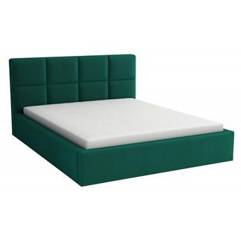 Łóżko Tapicerowane Alaska 140x200 z Materacem Królewska Zieleń Tkanina Kronos