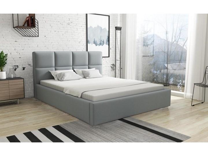 Łóżko Tapicerowane Alaska 160x200 z Materacem Czarny Tkanina Trinity Kategoria Łóżka do sypialni