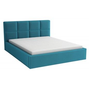 Łóżko Tapicerowane Alaska 160x200 z Materacem Turkusowy Tkanina Trinity