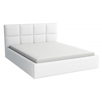 Łóżko Tapicerowane Alaska 180x200 z Materacem Biały Tkanina Cayene