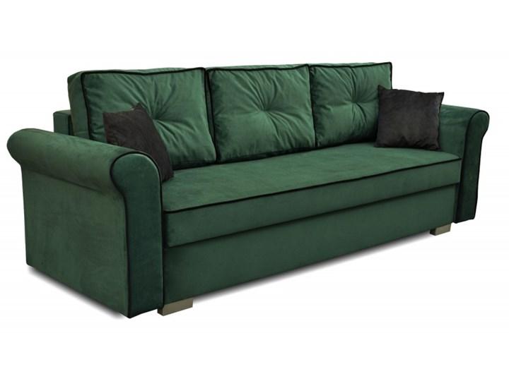 Sofa z Funkcją Spania Merida Królewska Zieleń Typ Gładkie