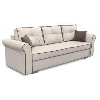 Sofa z Funkcją Spania Pele Brązowy/Kremowy
