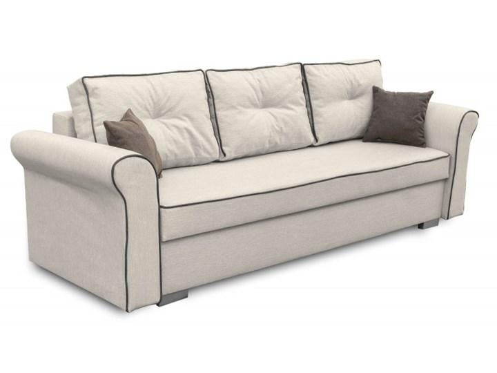 Sofa z Funkcją Spania Pele Brązowy/Kremowy Rozkładanie Rozkładana