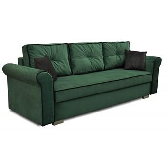 Sofa z Funkcją Spania Pele Królewska Zieleń