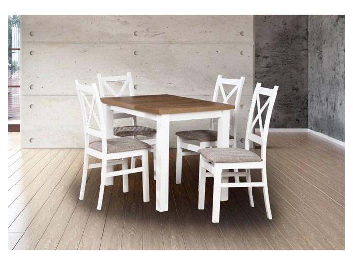 Stół + 4 Krzesła do Kuchni Jadalni 100x70 Brąz Kategoria Stoły z krzesłami