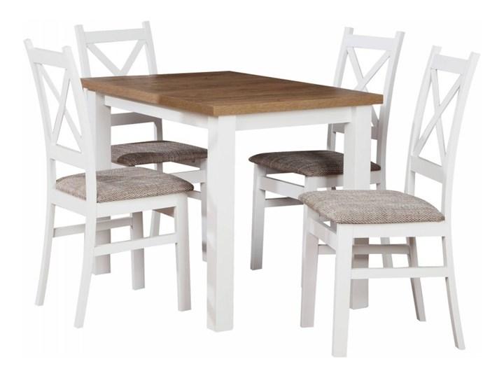 Stół + 4 Krzesła do Kuchni Jadalni 100x70 Brąz Kolor Beżowy