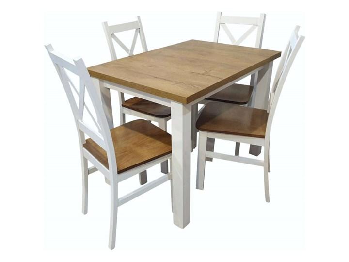 Stół + 4 Krzesła do Kuchni Jadalni 100x70 Brąz Pomieszczenie Jadalnia