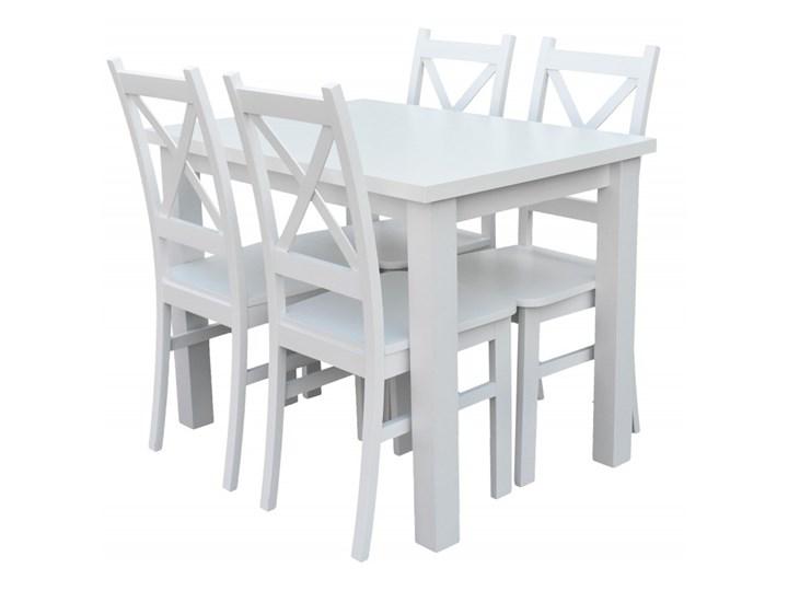 Stół + 4 Krzesła do Kuchni Jadalni 100x70 Biały