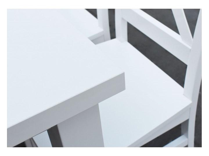 Stół + 4 Krzesła do Kuchni Jadalni 100x70 Biały Pomieszczenie Jadalnia