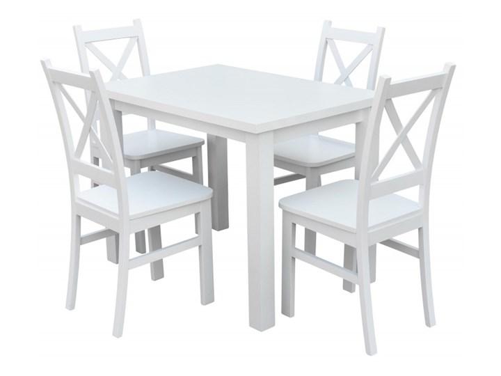 Stół + 4 Krzesła do Kuchni Jadalni 100x70 Biały Pomieszczenie Jadalnia Kategoria Stoły z krzesłami