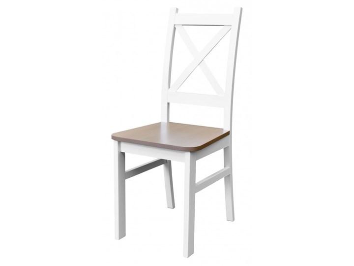 Stół + 5 Krzeseł do Kuchni Jadalni 120x80 Brąz Pomieszczenie Jadalnia Kolor Biały