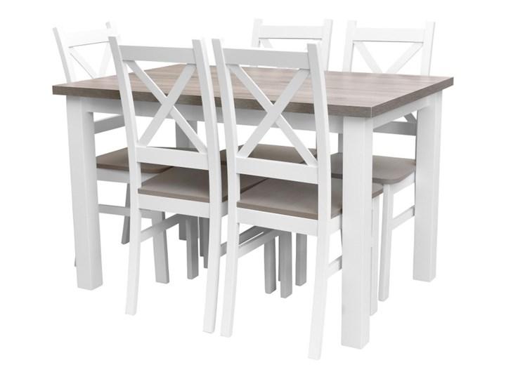 Stół + 5 Krzeseł do Kuchni Jadalni 120x80 Brąz