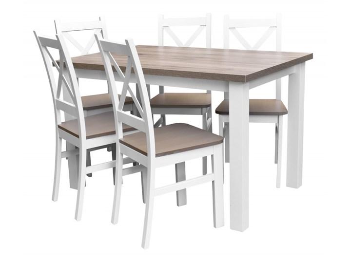 Stół + 5 Krzeseł do Kuchni Jadalni 120x80 Brąz Kategoria Stoły z krzesłami Pomieszczenie Jadalnia