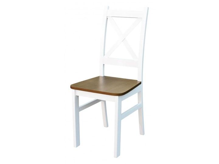 Stół + 5 Krzeseł do Kuchni Jadalni 120x80 Brąz Kolor Biały