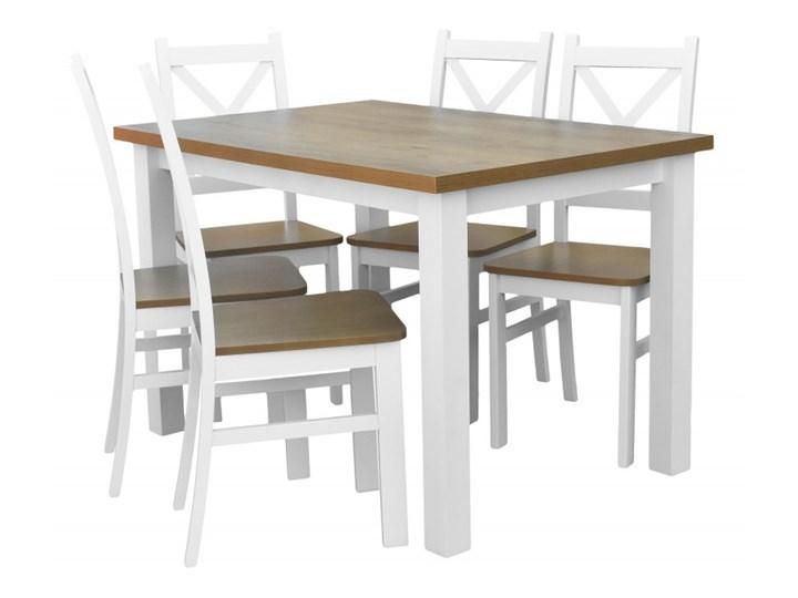 Stół + 5 Krzeseł do Kuchni Jadalni 120x80 Brąz Kolor Biały Kategoria Stoły z krzesłami