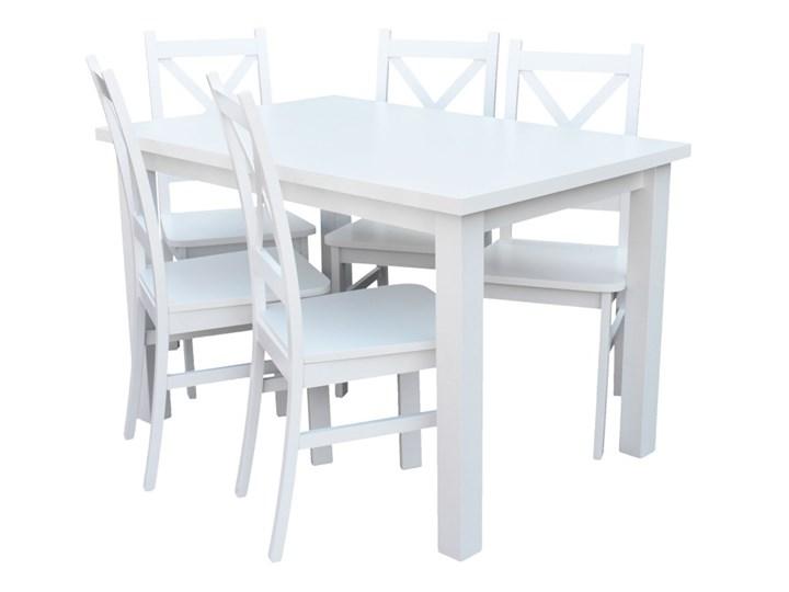 Stół + 5 Krzeseł do Kuchni Jadalni 120x80 Biały Pomieszczenie Jadalnia Kategoria Stoły z krzesłami