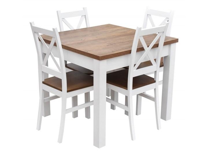 Stół + 4 Krzesła do Kuchni Jadalni 190/90x90 Brąz Kolor Beżowy