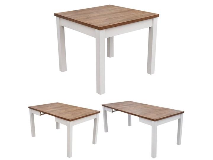 Stół + 4 Krzesła do Kuchni Jadalni 190/90x90 Brąz Pomieszczenie Jadalnia