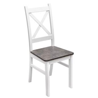 Krzesło Drewniane z Twardym Siedziskiem do Kuchni Jadalni Beton