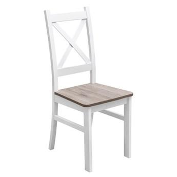 Krzesło Drewniane z Twardym Siedziskiem do Kuchni Jadalni San Remo