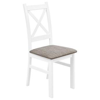 Krzesło Drewniane z Tapicerowanym Siedziskiem do Kuchni Jadalni Jasny Brąz