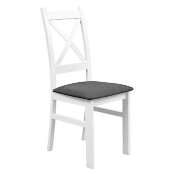 Krzesło Drewniane z Tapicerowanym Siedziskiem do Kuchni Jadalni Grafit