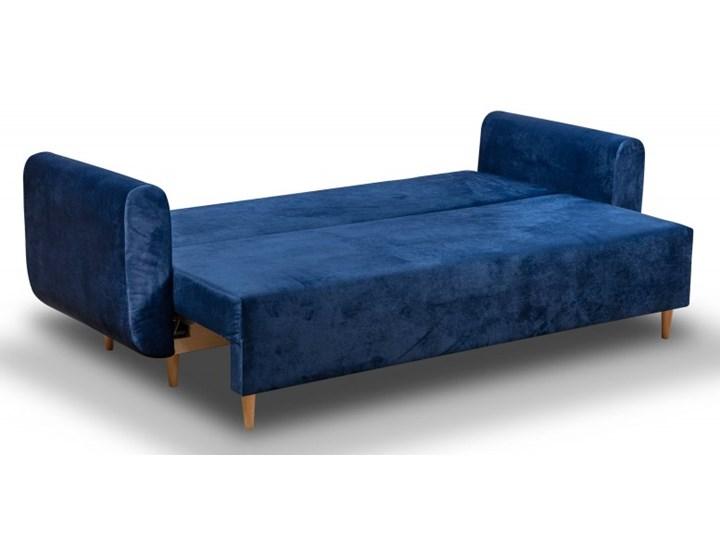Sofa z Funkcją Spania Sewilla Królewska Zieleń Typ Gładkie Rozkładanie Rozkładana