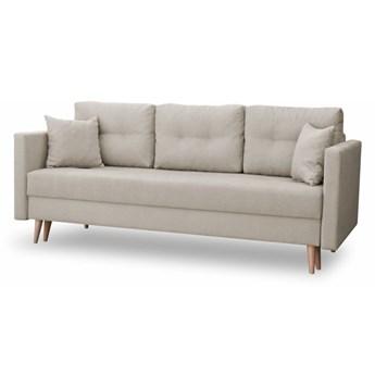 Sofa z Funkcją Spania Lahti Kremowy