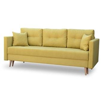 Sofa z Funkcją Spania Lahti Musztardowy