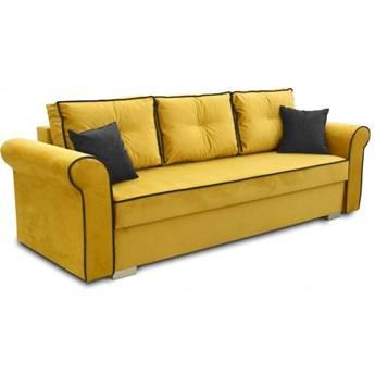 Sofa z Funkcją Spania Pele Musztardowy