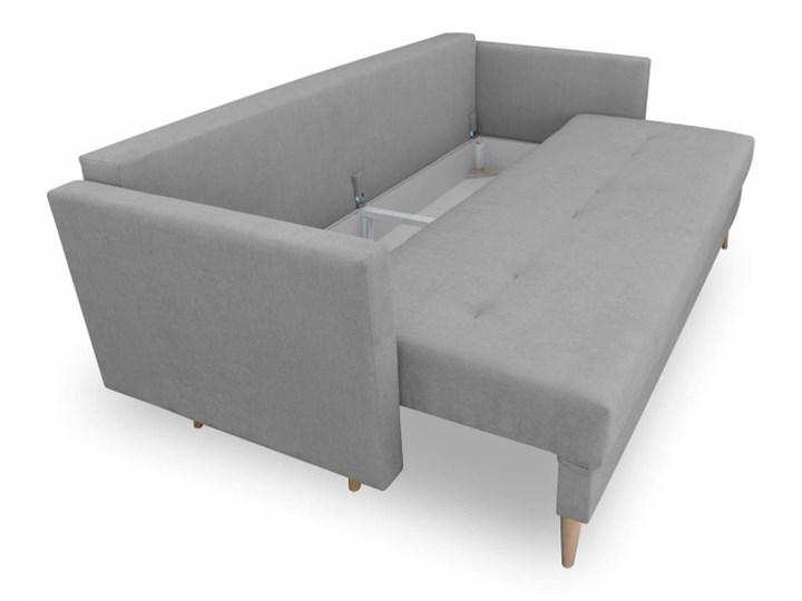 Sofa z Funkcją Spania Saffle Szary Typ Gładkie Styl Skandynawski