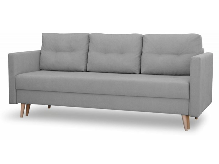 Sofa z Funkcją Spania Saffle Szary Styl Skandynawski Rozkładanie Rozkładana