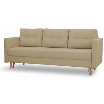 Sofa z Funkcją Spania Saffle Kremowy