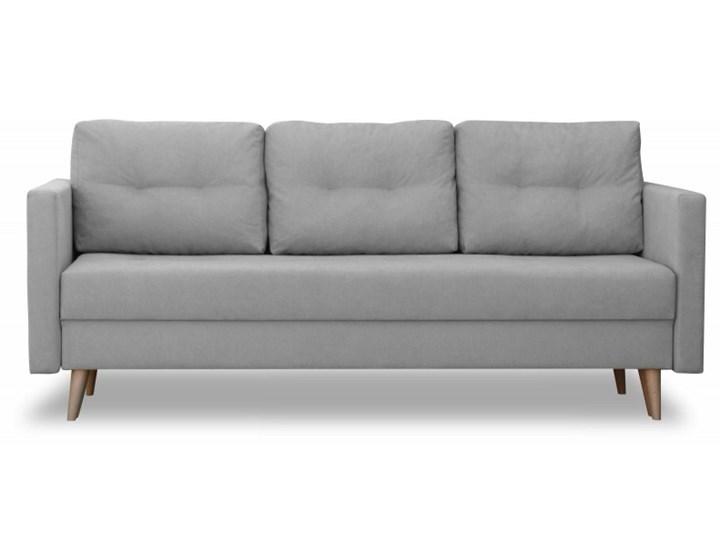 Sofa z Funkcją Spania Saffle Szary Typ Gładkie