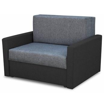 Fotel Sofa Jednoosobowa do Spania Tedi 1 Czarny