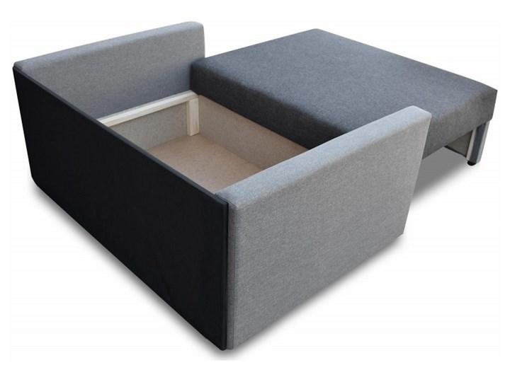 Fotel Sofa Jednoosobowa do Spania Tedi 2 Czarny Rozkładanie Rozkładana Pomieszczenie Pokój przedszkolaka