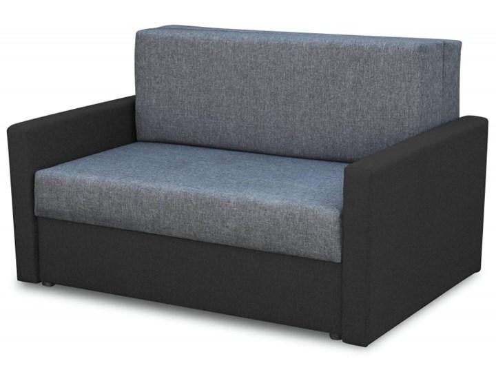 Fotel Sofa Jednoosobowa do Spania Tedi 2 Czarny Rozkładanie Rozkładana