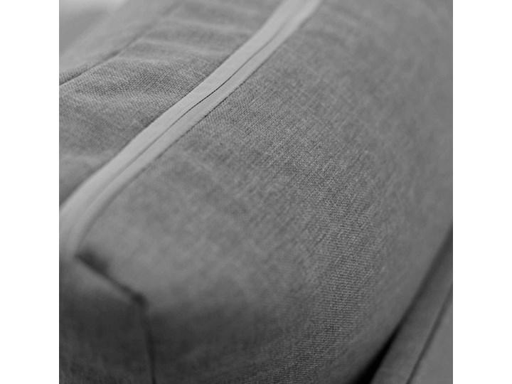 Fotel Sofa Jednoosobowa do Spania Toledo Szary/Biały Typ Gładkie