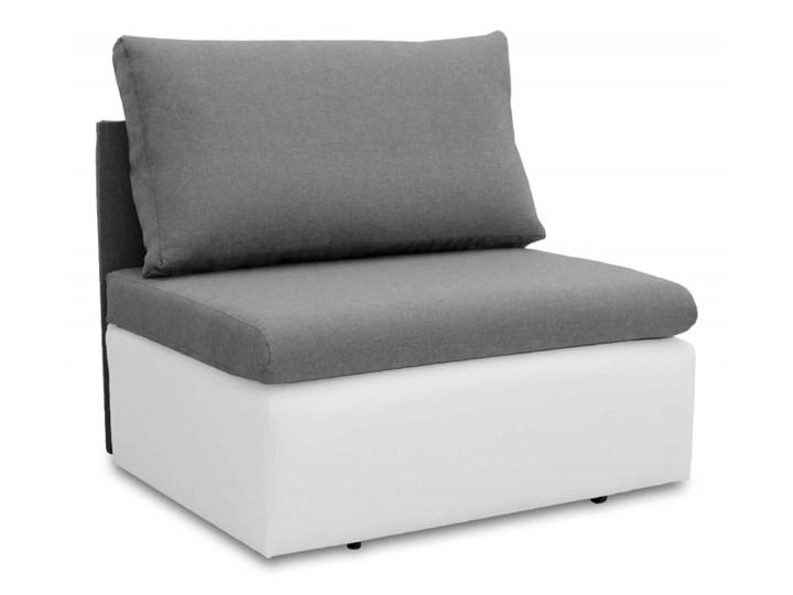 Fotel Sofa Jednoosobowa do Spania Toledo Szary/Biały Materiał obicia Tkanina