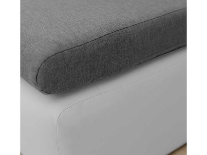 Fotel Sofa Jednoosobowa do Spania Toledo Szary/Biały Styl Nowoczesny Typ Gładkie