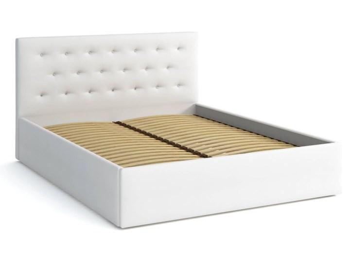 Łóżko Tapicerowane 160x200 Star Biały Kategoria Łóżka do sypialni