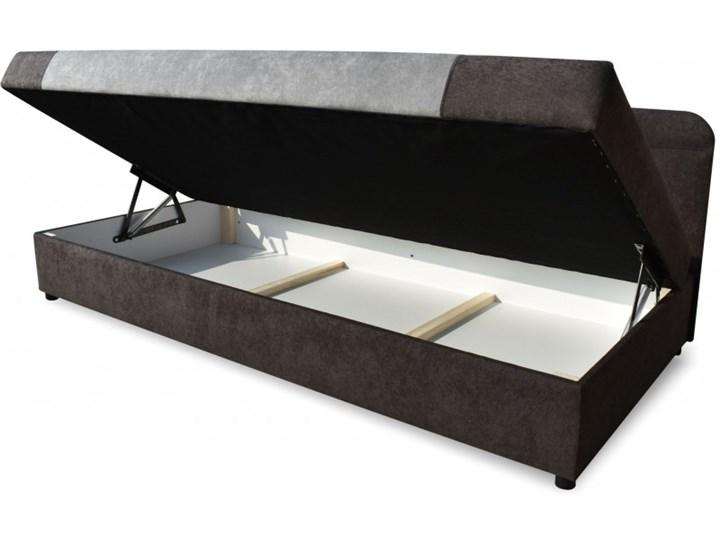 Łóżko Tapicerowane 90x200 Sida Grafitowy/Szary Kategoria Łóżka do sypialni