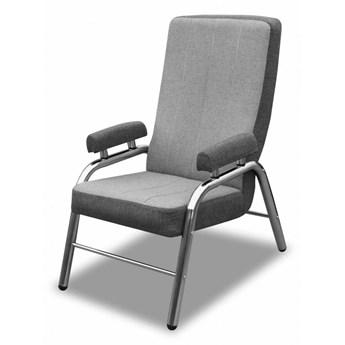 Fotel Metalowy do Salonu Lile Szary