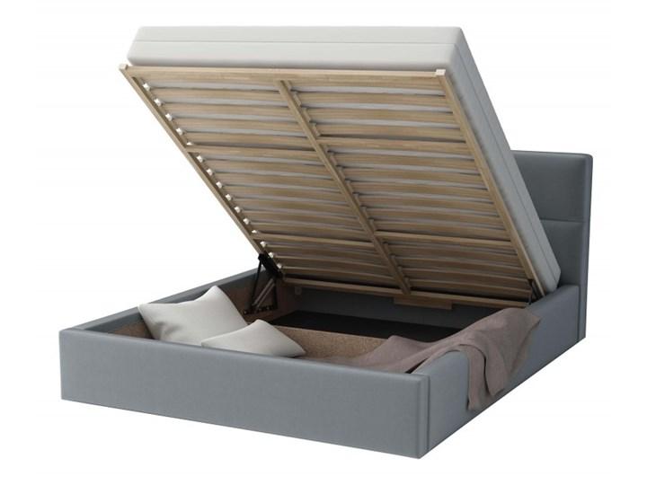 Łóżko Tapicerowane Alaska 140x200 Szary Tkanina Cayene Kategoria Łóżka do sypialni