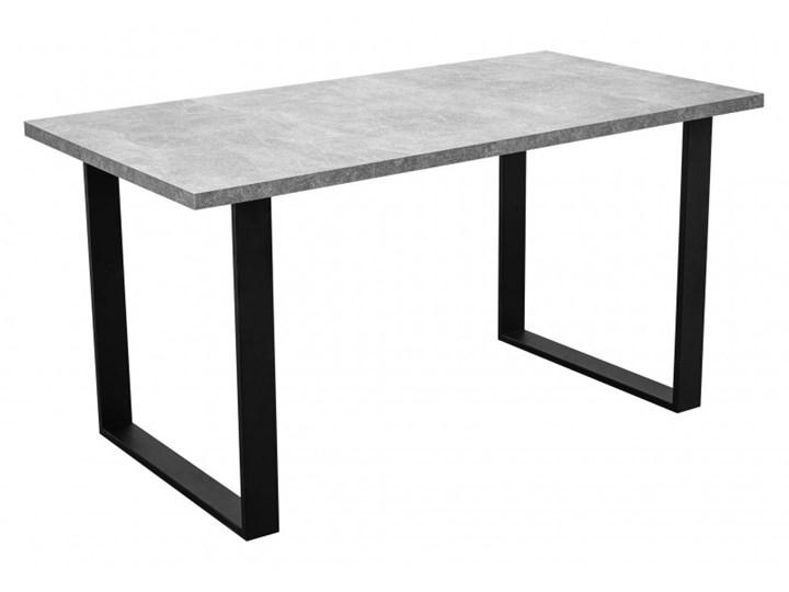 Stół z Metalowymi Nogami LOFT 150x80 Szerokość 80 cm Długość 150 cm  Stal Drewno Tworzywo sztuczne Wysokość 76 cm Kształt blatu Prostokątny